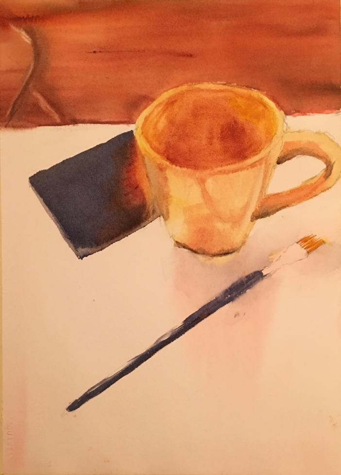 brush and cup