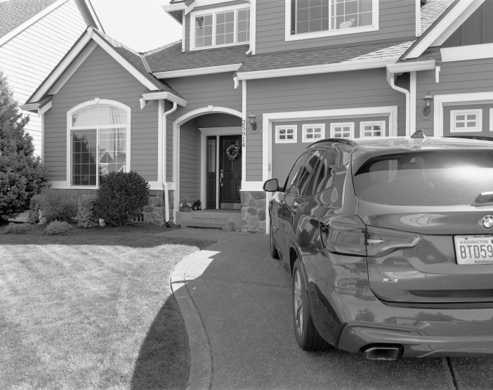 Our house with car